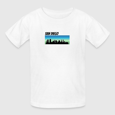 Retro San Diego Skyline - Kids' T-Shirt
