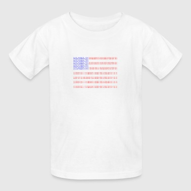 no trump no kkk USA flag - Kids' T-Shirt