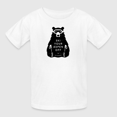 Ski Your Aspen Off Funny Bear - Kids' T-Shirt