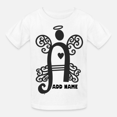 Halo Wing Angel wings and halo monogram initial letter A - Kids' T-Shirt