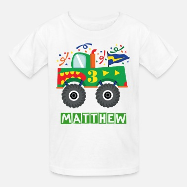 Monster Truck 3rd Birthday Monster Truck - Kids' T-Shirt