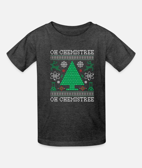 Funny Bowling T-Shirts - Oh Chemistree Funny Science Long Sleeve Shirt Gift - Kids' T-Shirt heather black