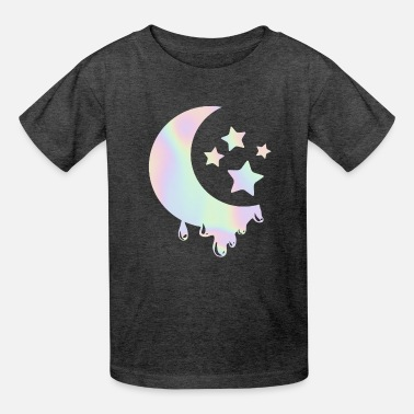 Goth Pastel Goth Moon with Stars. Kawaii Pastel Goth - Kids' T-Shirt