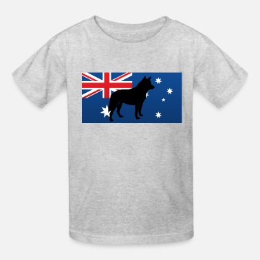Acd australian cattle dog sil - Kids' T-Shirt