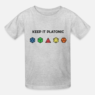 Platonic Solids Platonic (dark) - Kids' T-Shirt