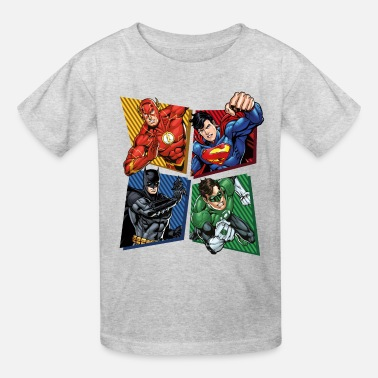 Justice League Superheroes Group - Kids' T-Shirt