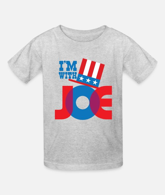 Presidential Election T-Shirts - I'M WITH JOE - Kids' T-Shirt heather gray