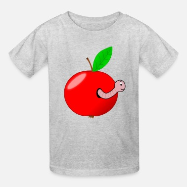 Apple Worm Red apple worm - Kids' T-Shirt