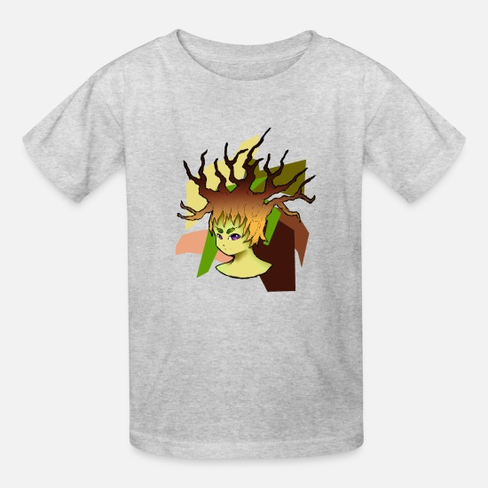 Sprite T-Shirts - Mins of Nature (Variation 2) - Kids' T-Shirt heather gray