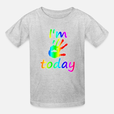 Girl 5th Birthday I'm 5 today 5 years old t-shirt gift - Kids' T-Shirt