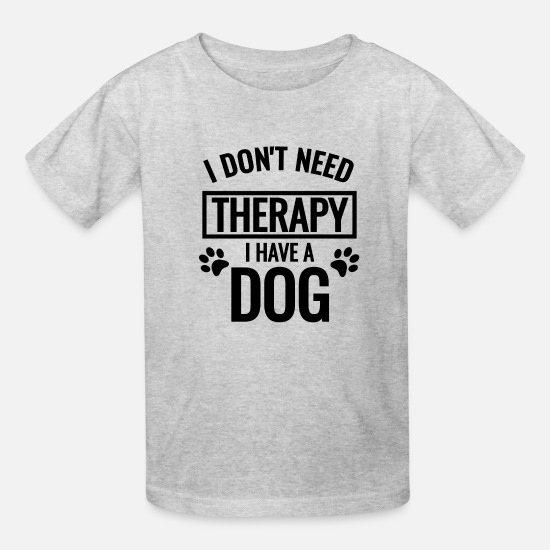 Dog T-Shirts - I HAVE A DOG (Black) - Kids' T-Shirt heather gray