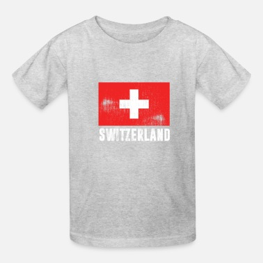 Switzerland SWITZERLAND FLAG VINTAGE - Kids' T-Shirt