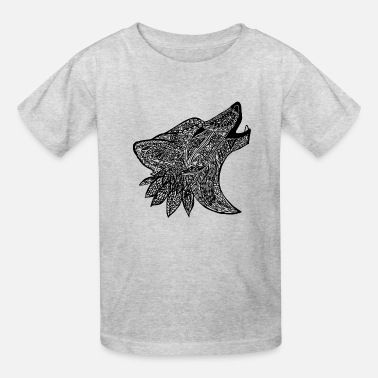 Tribal Wold Design - Kids' T-Shirt