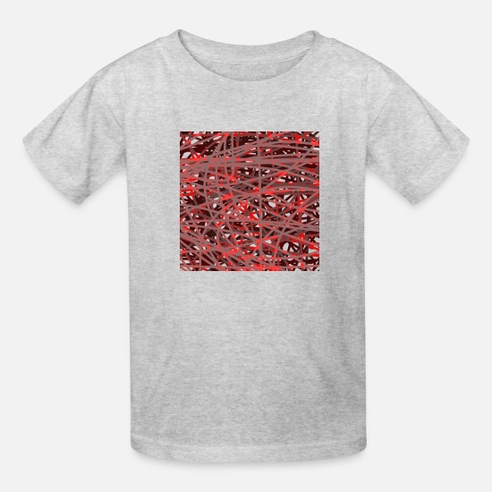 Reduced T-Shirts - red - Kids' T-Shirt heather gray