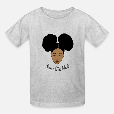 Black Black Girl Magic Afro Puffs - Kids' T-Shirt
