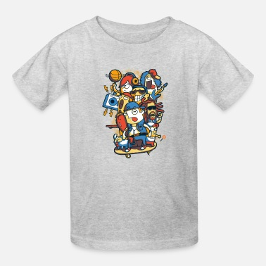 For Kids skateboard - Kids' T-Shirt