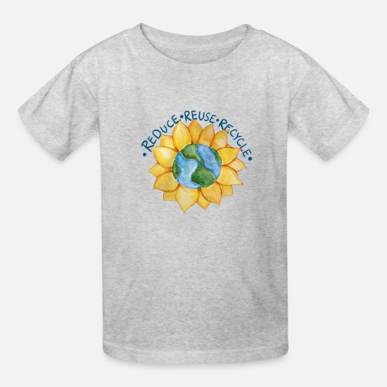 Reduced T-Shirts - Reduce reuse recycle - Kids' T-Shirt heather gray