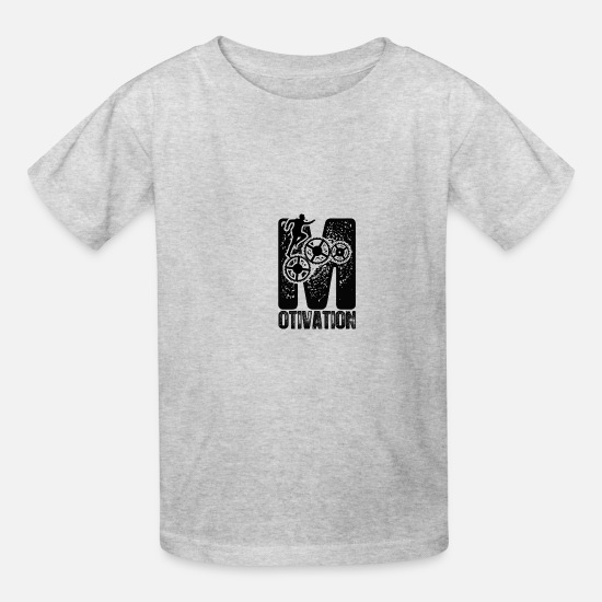 Monday Motivation T-Shirts - Motivation - Kids' T-Shirt heather gray