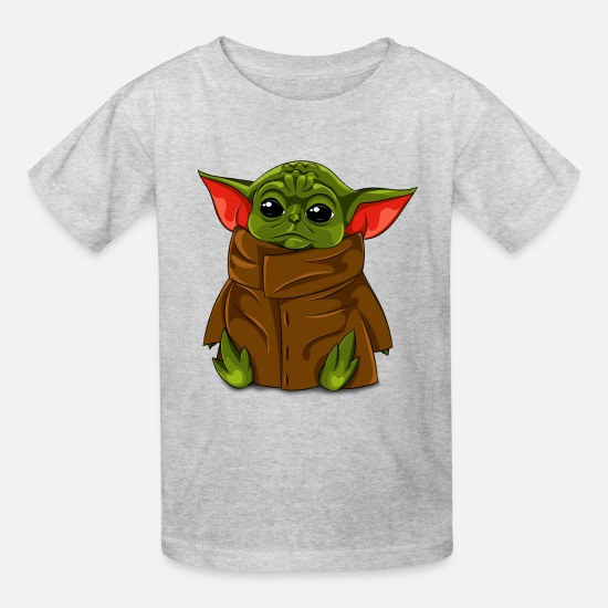 Yoda T-Shirts - Baby Yoda - Cute Design - Kids' T-Shirt heather gray