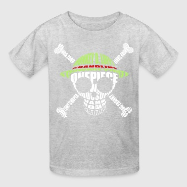 One_piece_logo_monogram_skull - Kids' T-Shirt