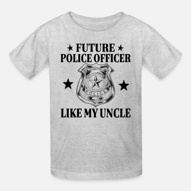 Police Officer Uncle Police Officer Like Uncle Badge - Kids' T-Shirt