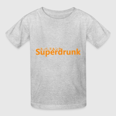 Superdrunk Drinking Drink Alcoholic - Kids' T-Shirt