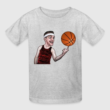 Funny man playing with Basket Ball - Kids' T-Shirt