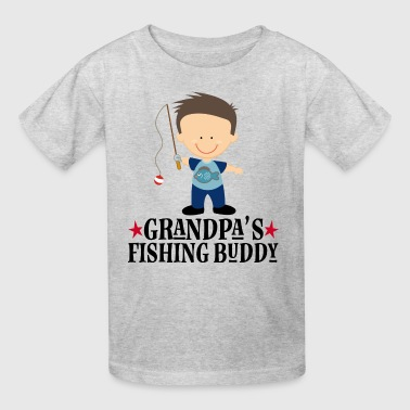 Grandpas Fishing Buddy Boy Fisherman - Kids' T-Shirt