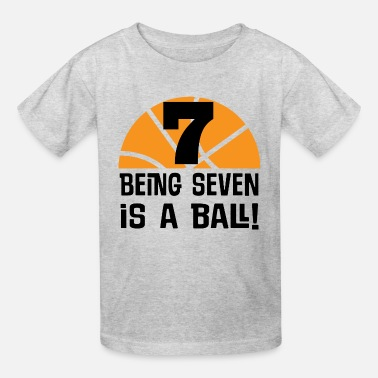 7 Years Old 7th Birthday Boys Basketball Sports Year Kids39 Shirts