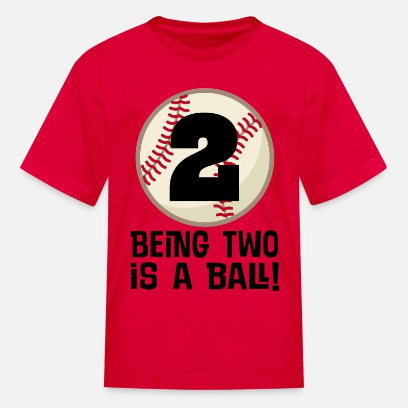2nd Birthday Boys Baseball Kids T Shirt