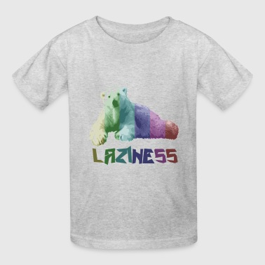 gay laziness bear - Kids' T-Shirt