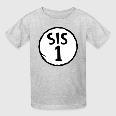 Sis Sis 1 - Sister -Siblings-Family-Thing 1/2 - Gift - Kids' T-Shirt
