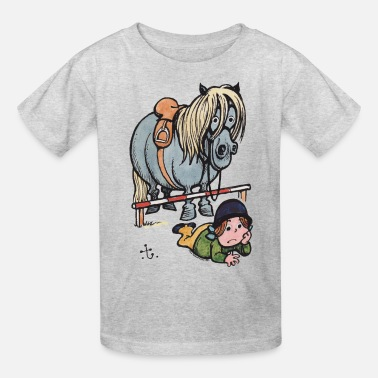 Gone Illustration Thelwell Funny Showjumping Gone Wrong - Kids' T-Shirt