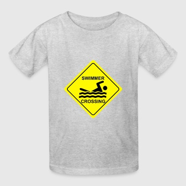 Swimmer Crossing - Kids' T-Shirt