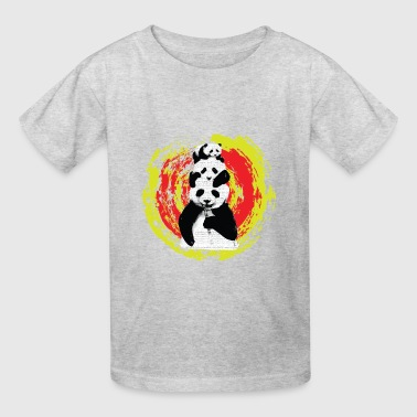 panda graffiti love pop art - Kids' T-Shirt