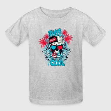 T Shirt streetwear skull color vector funny image - Kids' T-Shirt
