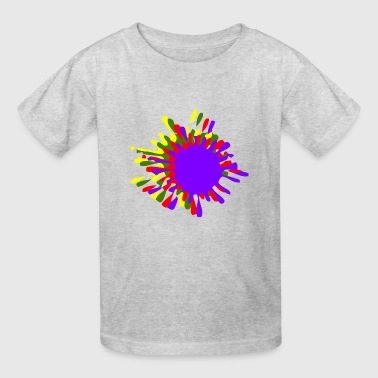 Ink Splash With Drops Multicolor - Kids' T-Shirt