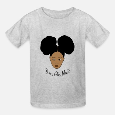 Black History Black Girl Magic Afro Puffs - Kids' T-Shirt