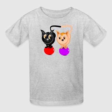 Cat Balls CATS ON BALLS - Kids' T-Shirt