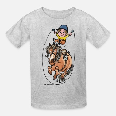 Thelwell Thelwell Funny Rope Jumping Horse And Rider - Kids' T-Shirt