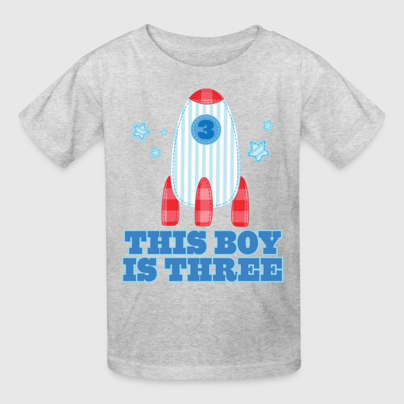 3rd Birthday Outer Space Rocket 3 Year Old - Kids' T-Shirt