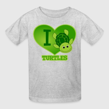 I Love Turtles - Kids' T-Shirt