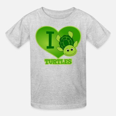 Green Turtles In Love I Love Turtles - Kids' T-Shirt