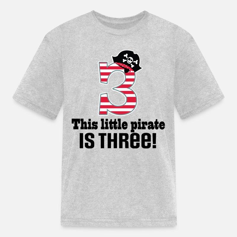 Kids T Shirt3rd Birthday Boys Pirate