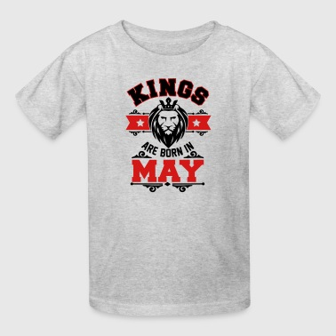 kings are born in lion may - Kids' T-Shirt