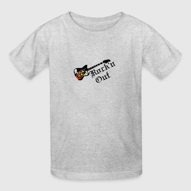 guitar with flame girls - Kids' T-Shirt