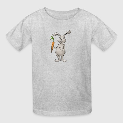 rabbit bunny cony hare buck carrot beet turnip - Kids' T-Shirt