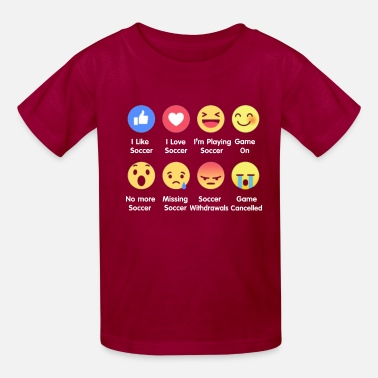 I Love I Love Soccer Emotion Shirt - Kids' T-Shirt