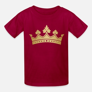 Royal golden crown monarch VIP vector art - Kids' T-Shirt