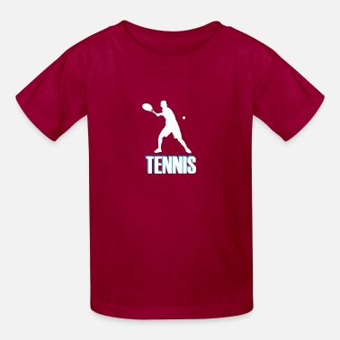 Tennis with colored font - Kids' T-Shirt